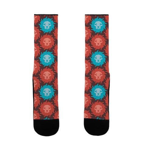 Lion Pattern Sock