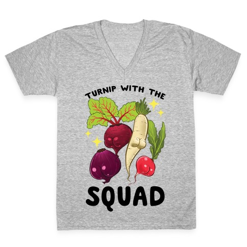 Turnip With The Squad V-Neck Tee Shirt