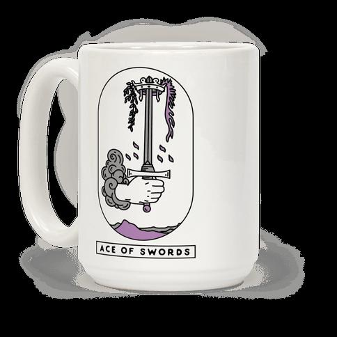 Ace of Swords Asexual Pride Coffee Mug