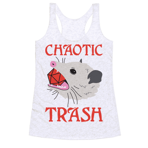 Chaotic Trash (Opossum) Racerback Tank Top
