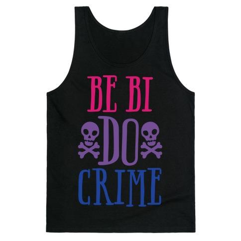Be Bi Do Crime White Print Tank Top