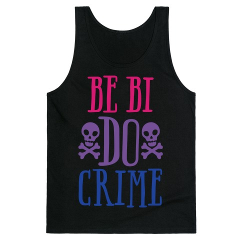 Be Bi Do Crime White Print Tank Top