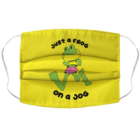 Just a Frog on a Jog Accordion Face Mask