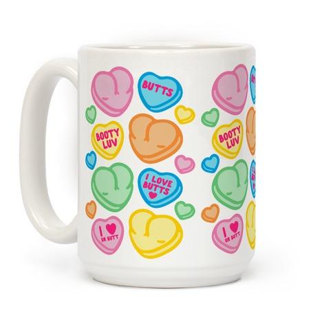 Candy Heart Butts Coffee Mug
