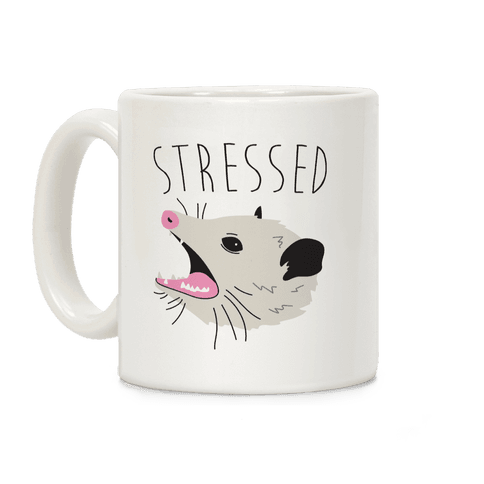 Stressed Opossum Coffee Mug