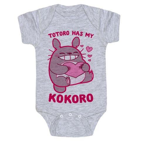 Totoro Has My Kokoro Baby Onesy
