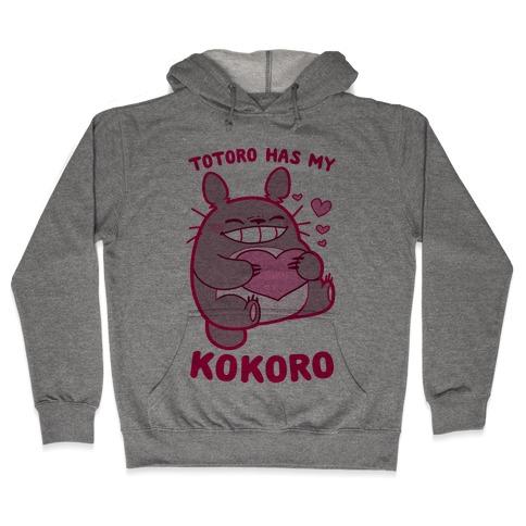 Totoro Has My Kokoro Hooded Sweatshirt