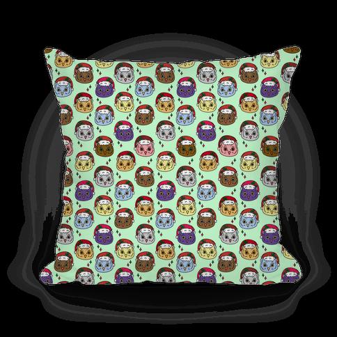 Cute Santa Owl Pattern Pillow