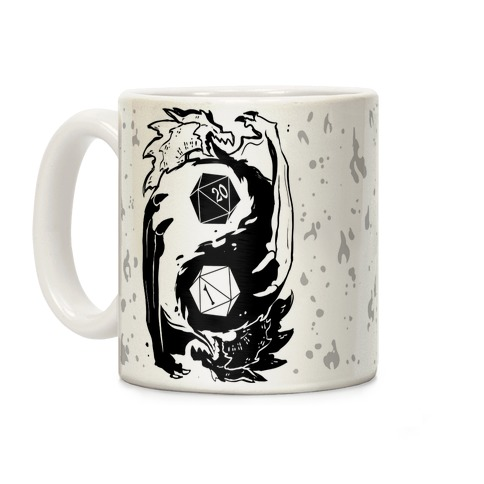 Dungeons and Dragons Yin Yang Coffee Mug
