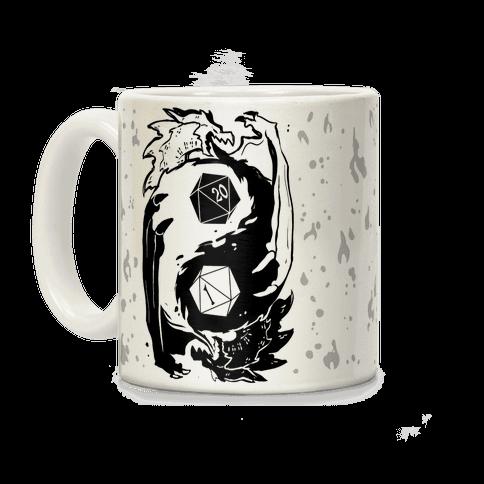 Dungeons and Dragons Yin Yang Coffee Mug