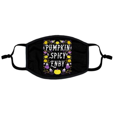 Pumpkin Spicy Enby Flat Face Mask