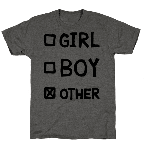 Non-Binary Gender Checklist Mens T-Shirt