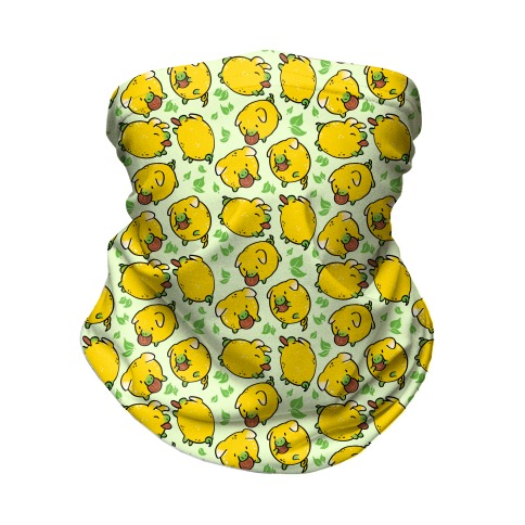 Lemon Pigs Neck Gaiter