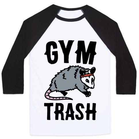 Gym Trash Opossum Baseball Tee