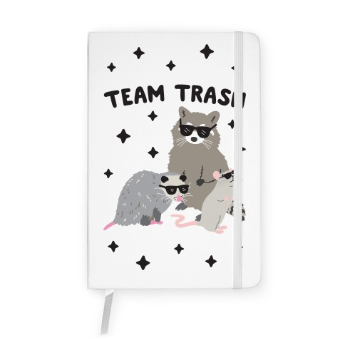 Team Trash Opossum Raccoon Rat Notebook