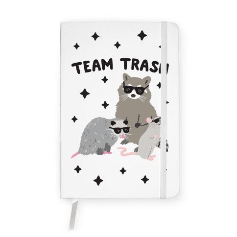 Team Trash Opossum Raccoon Rat Notebook