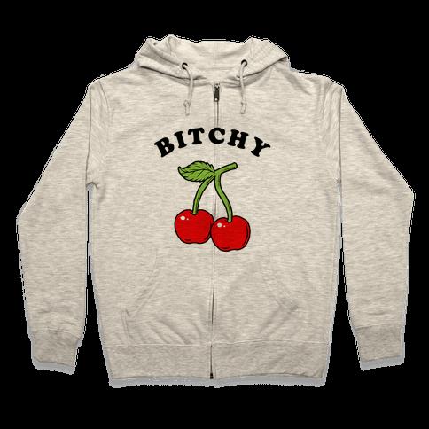 Bitchy Cherry Zip Hoodie