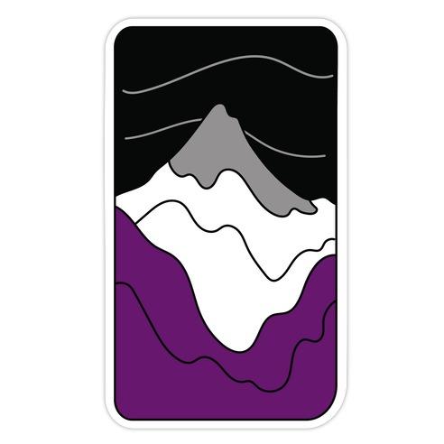 Groovy Pride Flag Landscapes: Ace Flag Die Cut Sticker