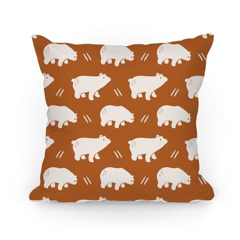 Bear Rust Boho Pattern Pillow