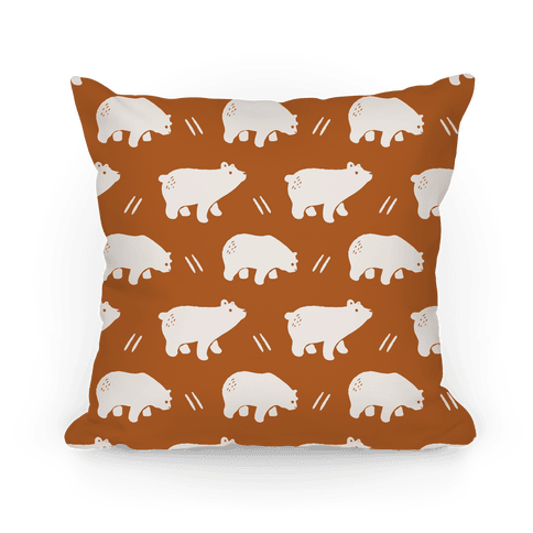 Bear Rust Boho Pattern Pillow