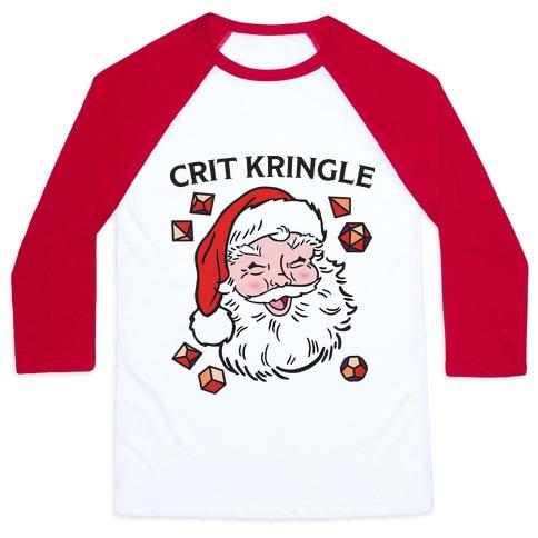 Crit Kringle Santa Baseball Tee