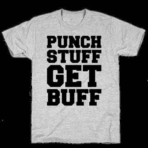 Punch Stuff Get Buff Mens T-Shirt