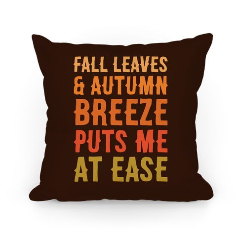 Fall Leaves and Autumn Breeze Pillow