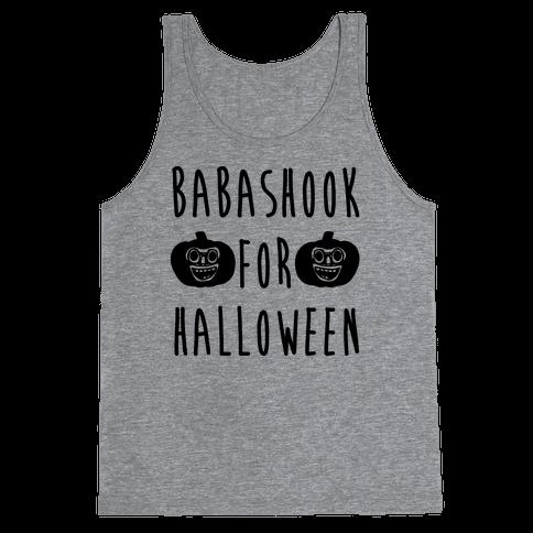 Babashook For Halloween Parody White Print Tank Top