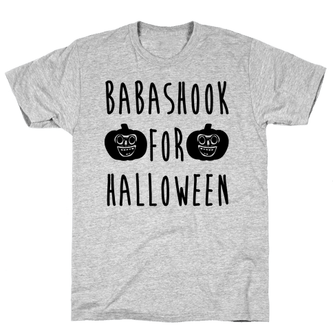 Babashook For Halloween Parody White Print Mens T-Shirt