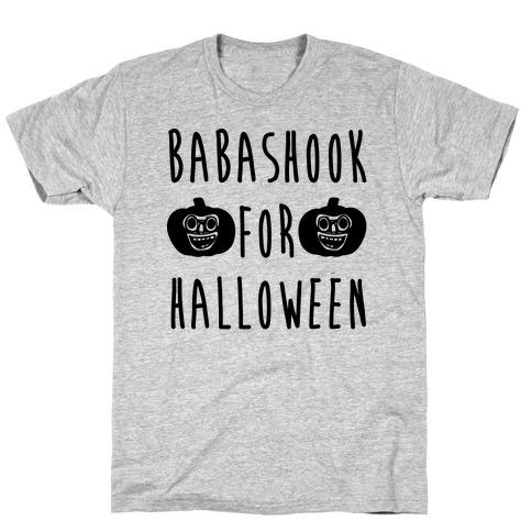 Babashook For Halloween Parody White Print Mens T-Shirt