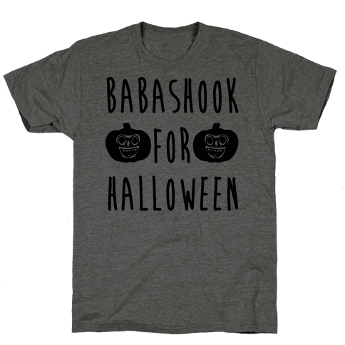 Babashook For Halloween Parody White Print