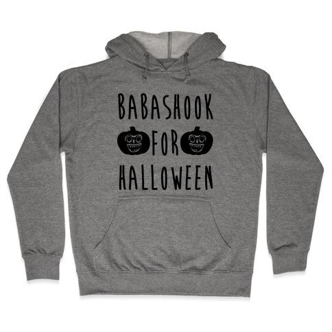Babashook For Halloween Parody White Print Hooded Sweatshirt