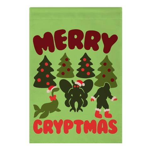 Merry Cryptmas Garden Flag