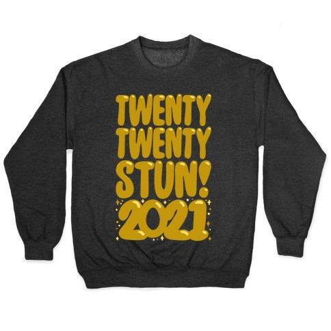 Twenty Twenty Stun 2021 White Print Pullover