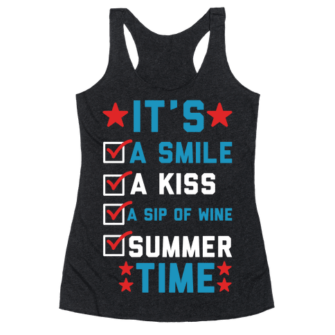 It's Summer Time Racerback Tank Top