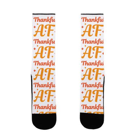 Thankful AF Sock
