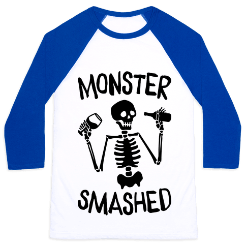 Monster Smashed Baseball Tee
