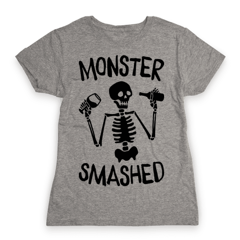 Monster Smashed Womens T-Shirt