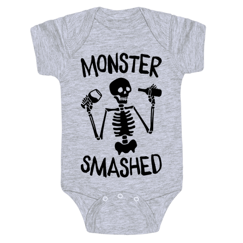 Monster Smashed Baby Onesy