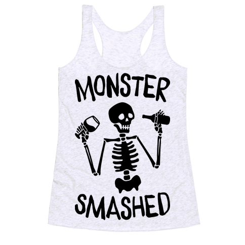 Monster Smashed Racerback Tank Top