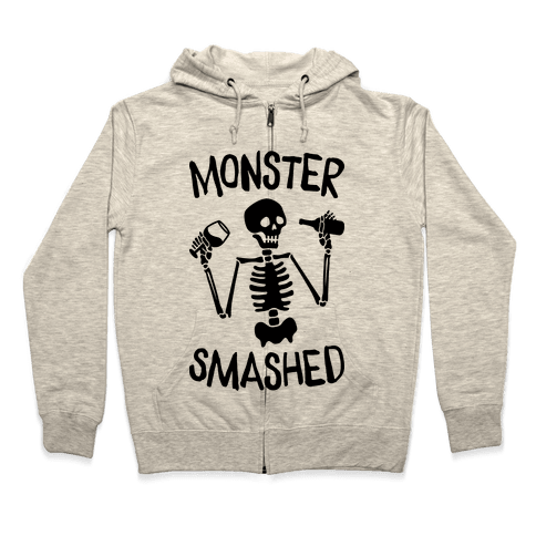 Monster Smashed Zip Hoodie