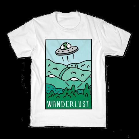 Wanderlust UFO Kids T-Shirt
