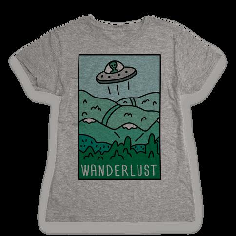 Wanderlust UFO Womens T-Shirt
