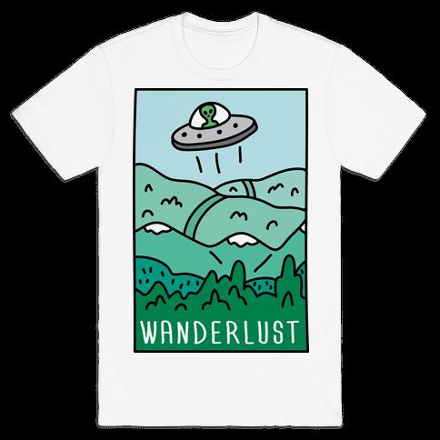 Wanderlust UFO Mens T-Shirt