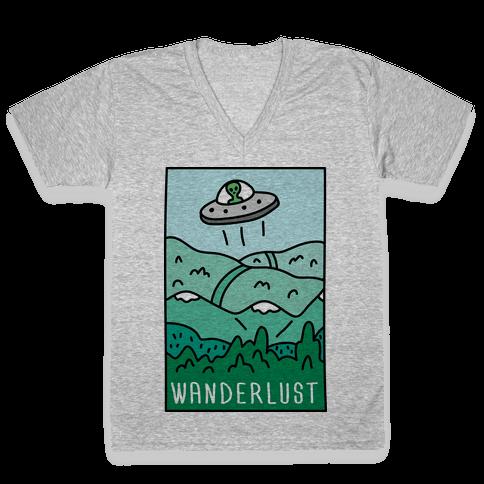 Wanderlust UFO V-Neck Tee Shirt