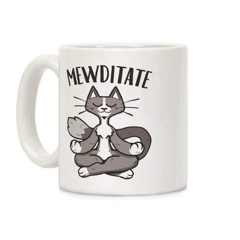 Mewditate Coffee Mug