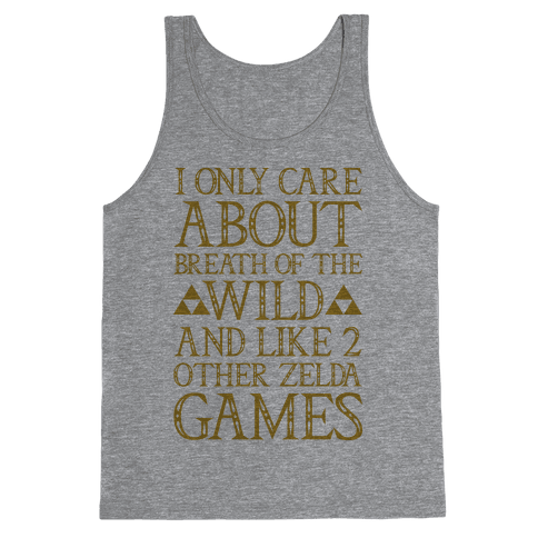I Only Care About Breath of The Wild  Tank Top