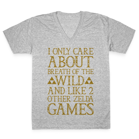 I Only Care About Breath of The Wild  V-Neck Tee Shirt