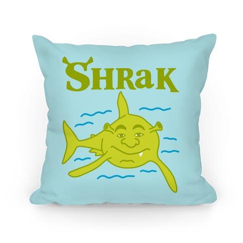 Shrak Shrek The Shark Pillow