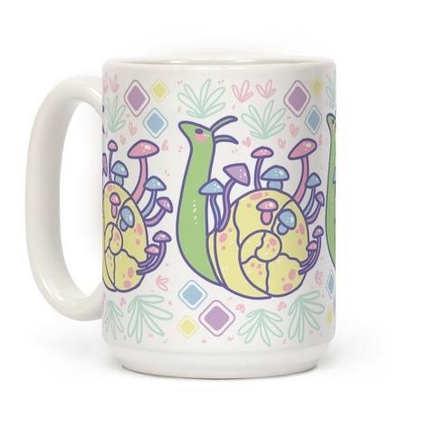 Pastel Mushroom Snail Coffee Mug